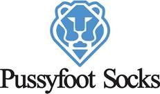 Pussy foot socks logo
